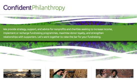 Confident Philanthropy website